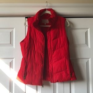 Banana Republic red down puffer vest